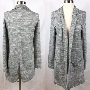 EUC✨SATURDAY SUNDAY Gray Marled Open Long Cardigan
